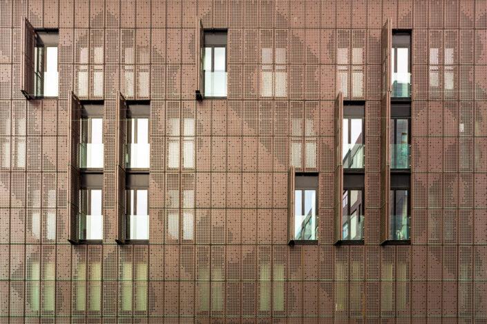 Thomas Illemann arkitekturfotografi architecture photography danmark denmark aarhus Copper House facade Claus Hermansen niras Bricks AE Stålmontage