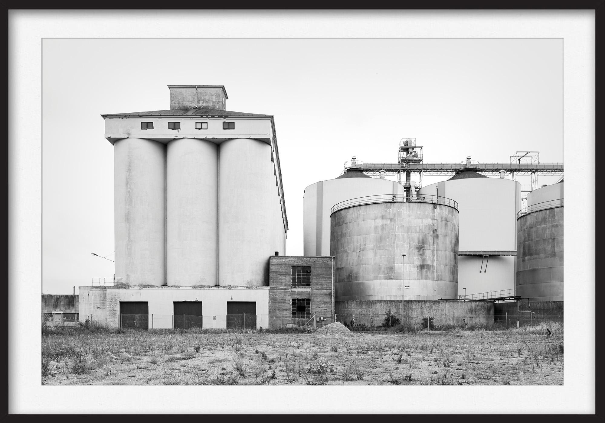 Thomas Illemann arkitekturfotografi photography landscape landskab sydhavn aarhus industri black white sort hvid